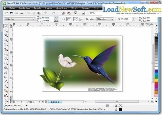 Скриншот программы coreldraw graphics suite
