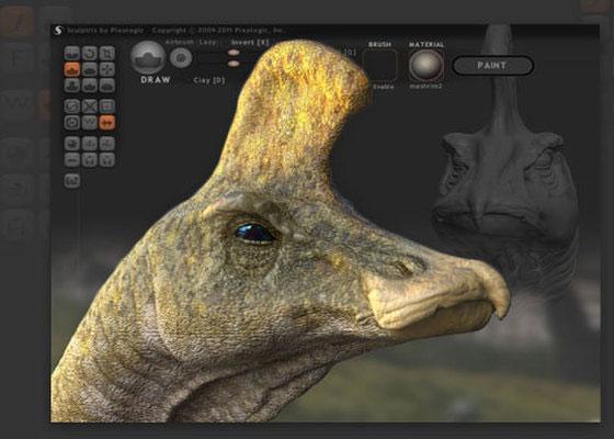 Скриншот программы sculptris