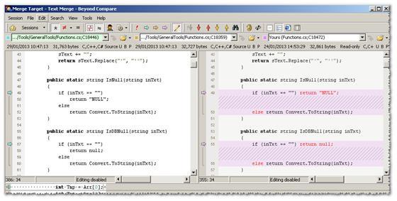 Скриншот программы beyond compare