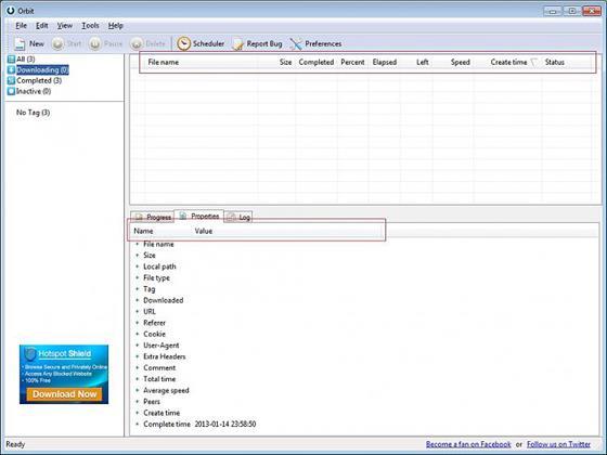 Скриншот программы orbit downloader