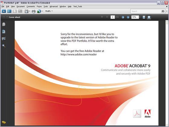 Скриншот программы adobe acrobat pro extended