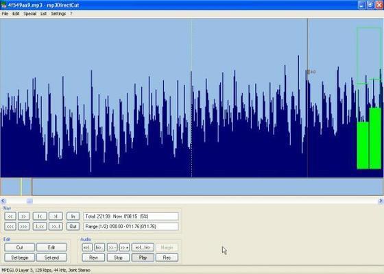 Скриншот программы mp3directcut для windows 7
