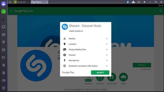 Скриншот программы shazam