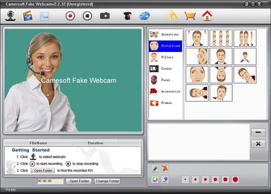 Скриншот программы fake webcam