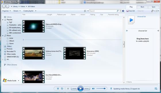 Скриншот программы media player