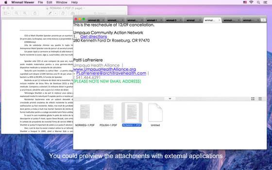 Скриншот программы winmail opener