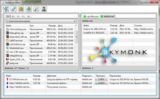 Скриншот программы skymonk