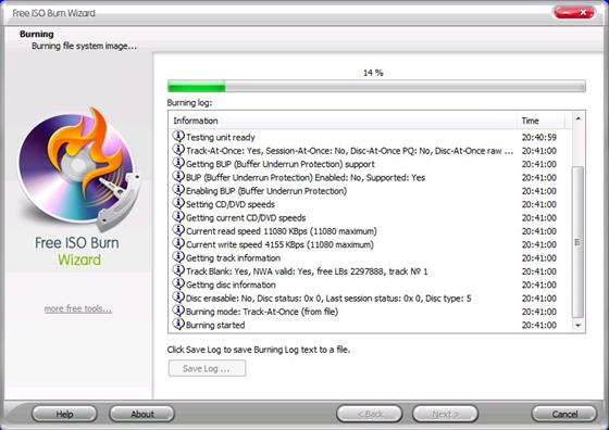 Скриншот программы isoburn