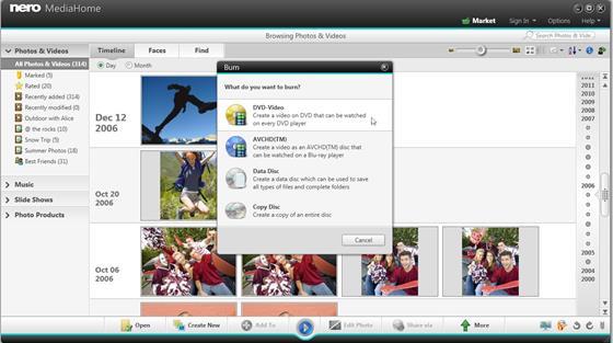 Скриншот программы nero mediahome