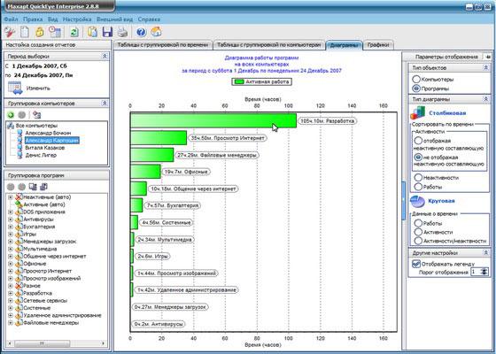 Скриншот программы maxapt quickeye