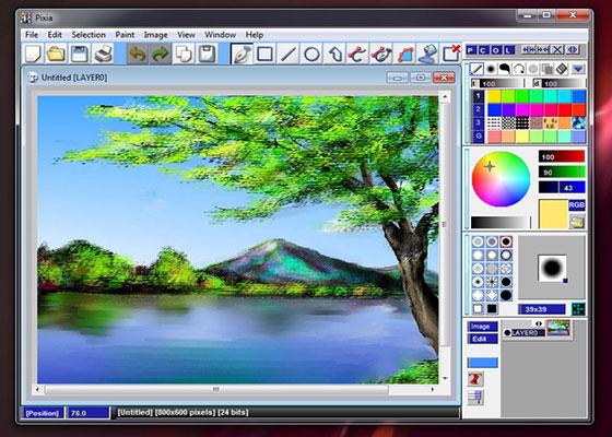 Скриншот программы pixia