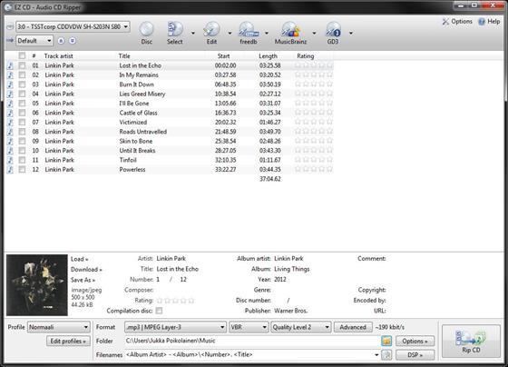 Скриншот программы ez cd audio converter