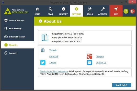 Скриншот программы roguekiller