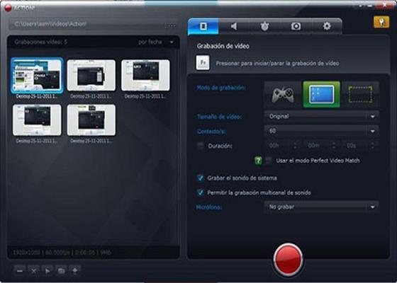 Скриншот программы action