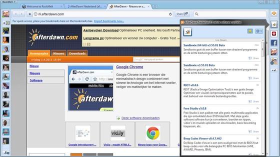 Скриншот программы rockmelt