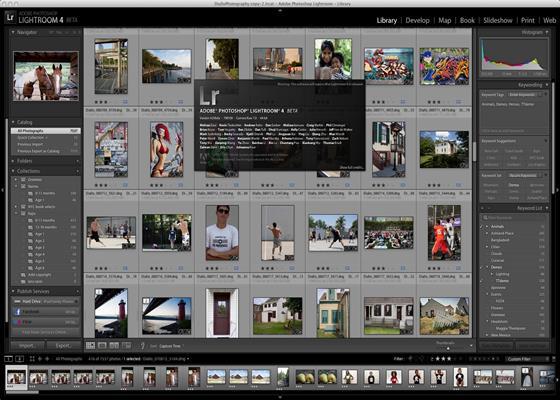 Скриншот программы adobe photoshop lightroom