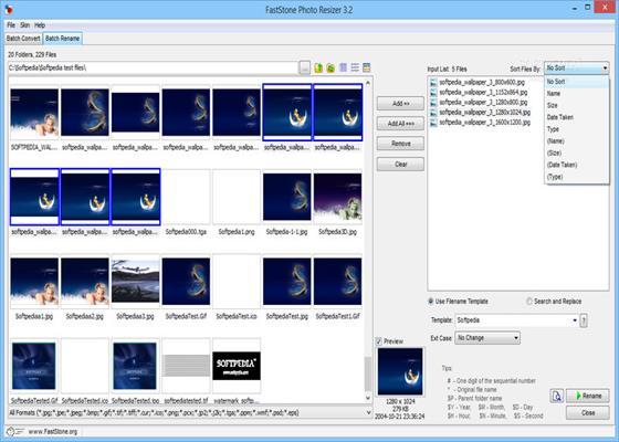 Скриншот программы faststone photo resizer