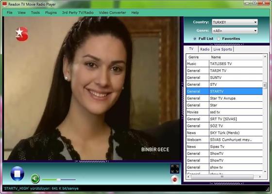 Скриншот программы readon tv movie radio player