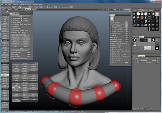 Скриншот программы 3d-coat