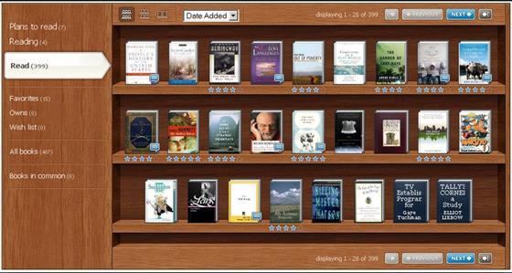 Скриншот программы bookshelf