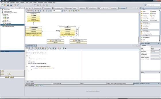 Скриншот программы netbeans
