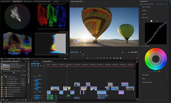 Скриншот программы adobe premiere pro cc