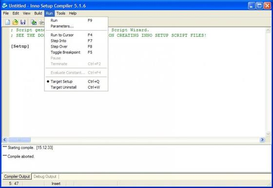 Скриншот программы inno setup