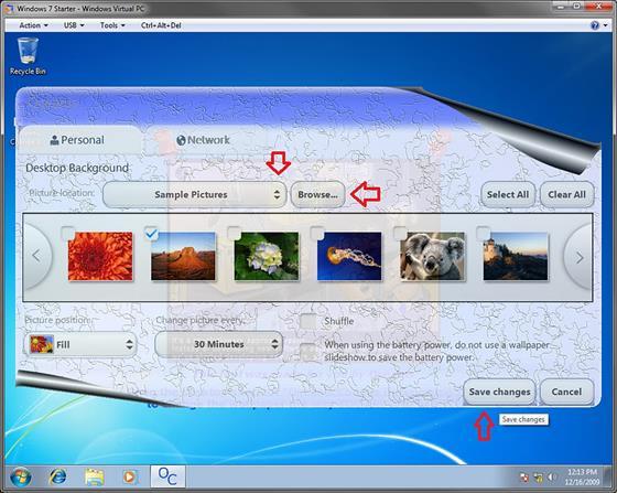 Скриншот программы starter wallpaper changer