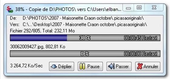 Скриншот программы supercopier
