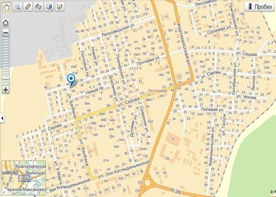 Скриншот программы яндекс.карты