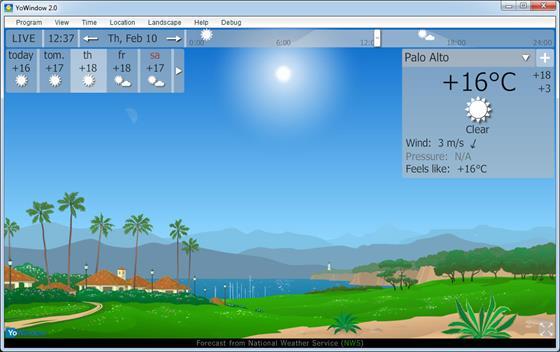 Скриншот программы yowindow