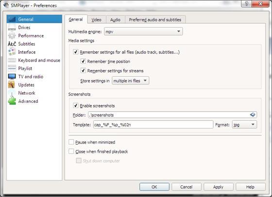Скриншот программы smplayer