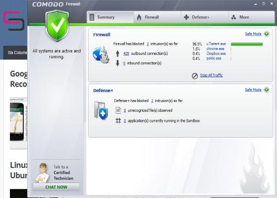 Скриншот программы comodo internet security pro для windows 10