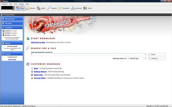 Скриншот программы shareaza