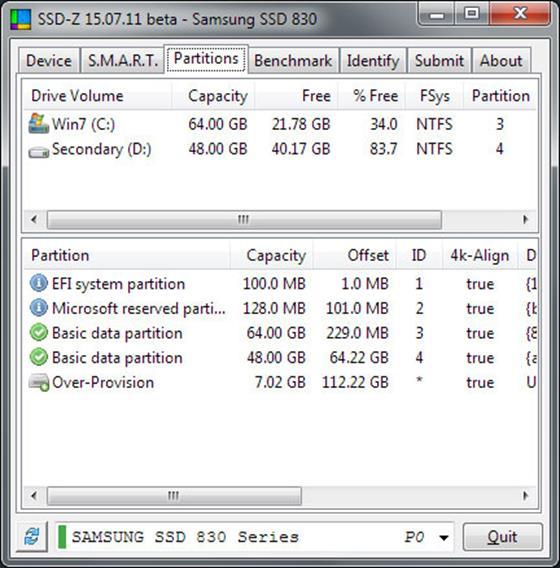 Скриншот программы ssd-z