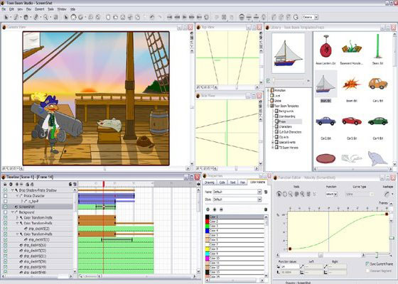 Скриншот программы toon boom studio