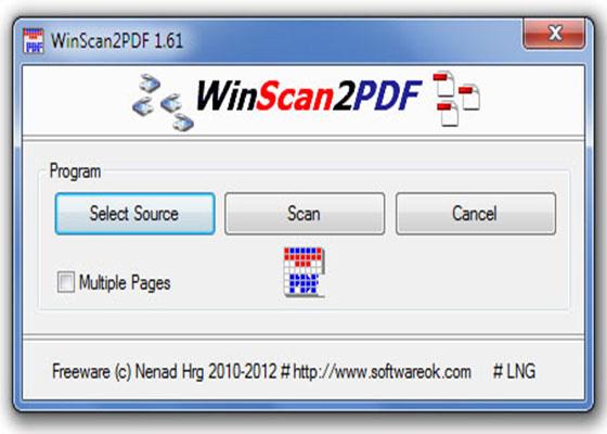 Скриншот программы winscan2pdf