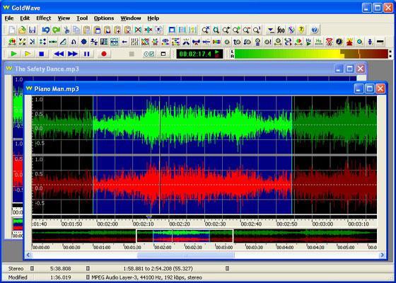 Скриншот программы goldwave для windows 7