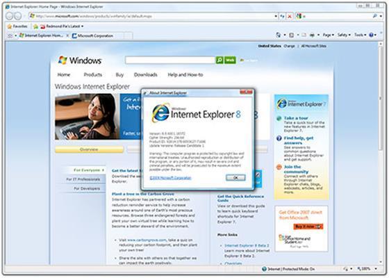 Скриншот программы internet explorer для windows 10