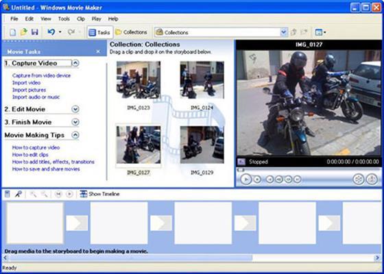 Скриншот программы windows movie maker 2.6