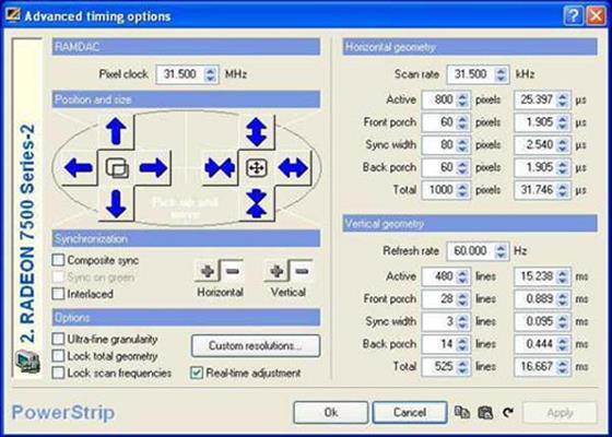 Скриншот программы powerstrip