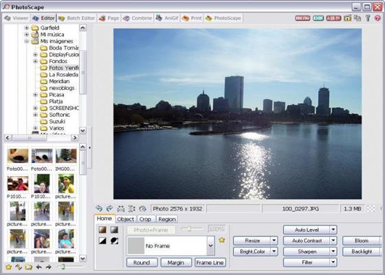 Скриншот программы photoscape для windows 10