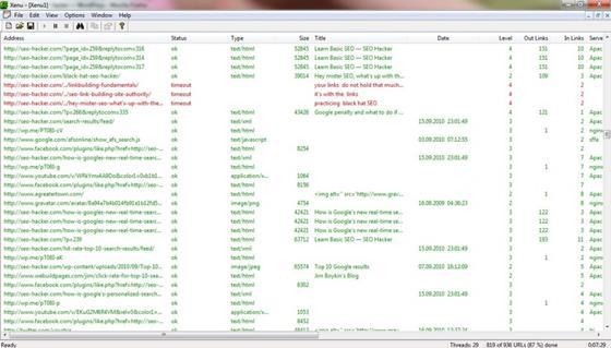 Скриншот программы xenu
