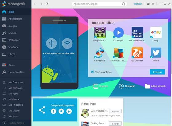 Скриншот программы mobogenie pro