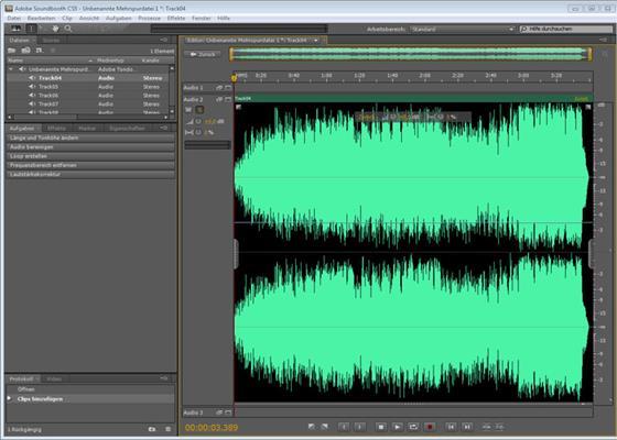 Скриншот программы adobe soundbooth