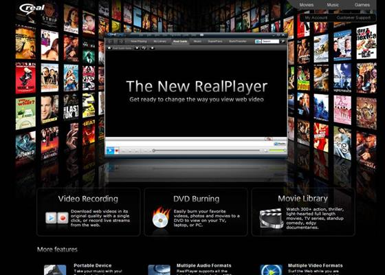 Скриншот программы realplayer