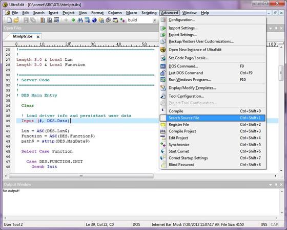 Скриншот программы ultraedit
