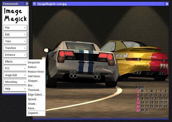 Скриншот программы imagemagick