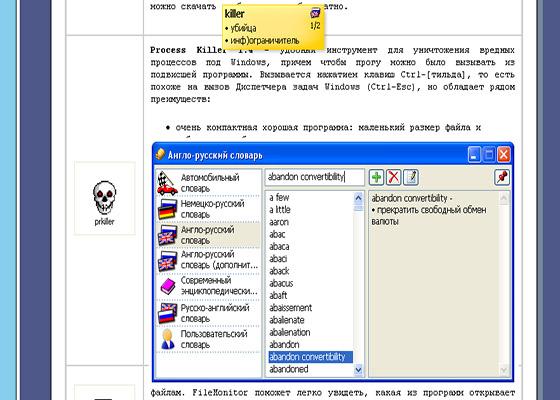 Скриншот программы qdictionary