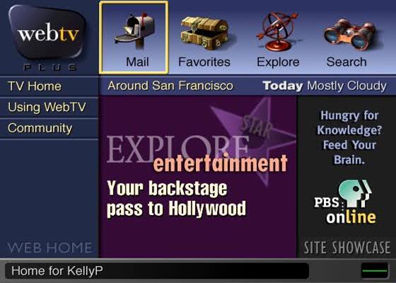 Скриншот программы webtv